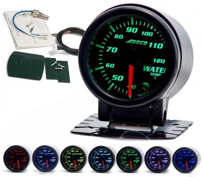 Zegar ADDCO 52mm - Temperatura wody - GRUBYGARAGE - Sklep Tuningowy